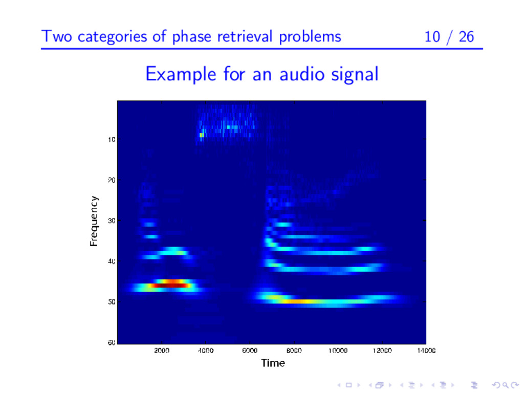 Two categories of phase retrieval problems 10 /...