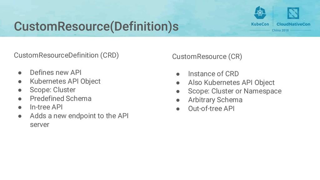 CustomResource (CR) ● Instance of CRD ● Also Ku...