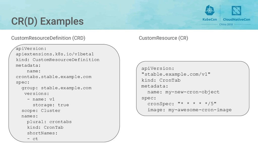 CustomResource (CR) apiVersion: apiextensions.k...