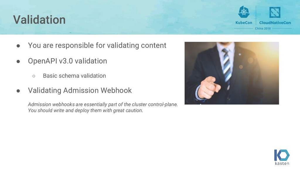 ● You are responsible for validating content ● ...