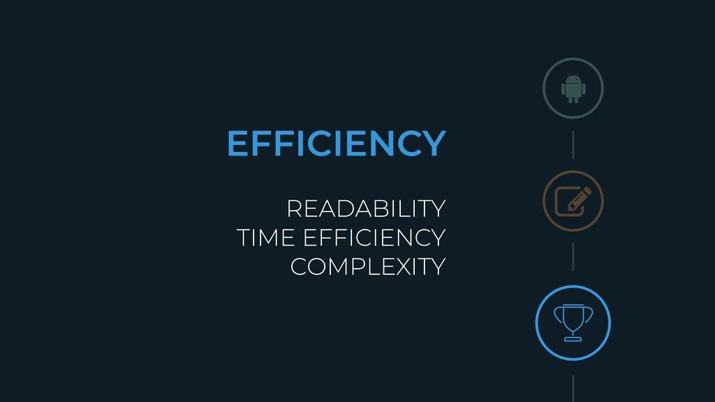 EFFICIENCY READABILITY TIME EFFICIENCY COMPLEXI...