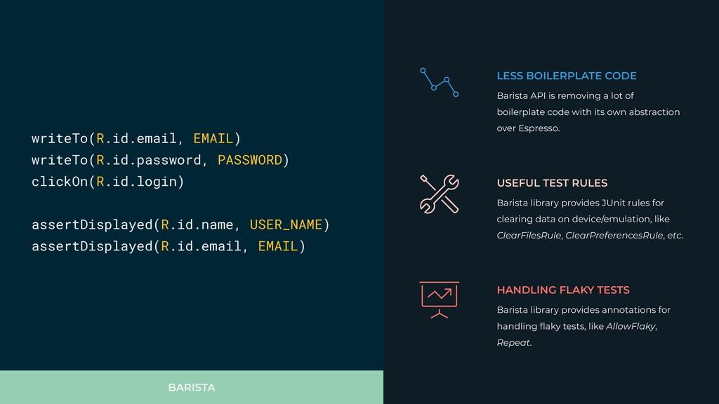 BARISTA LESS BOILERPLATE CODE Barista API is re...