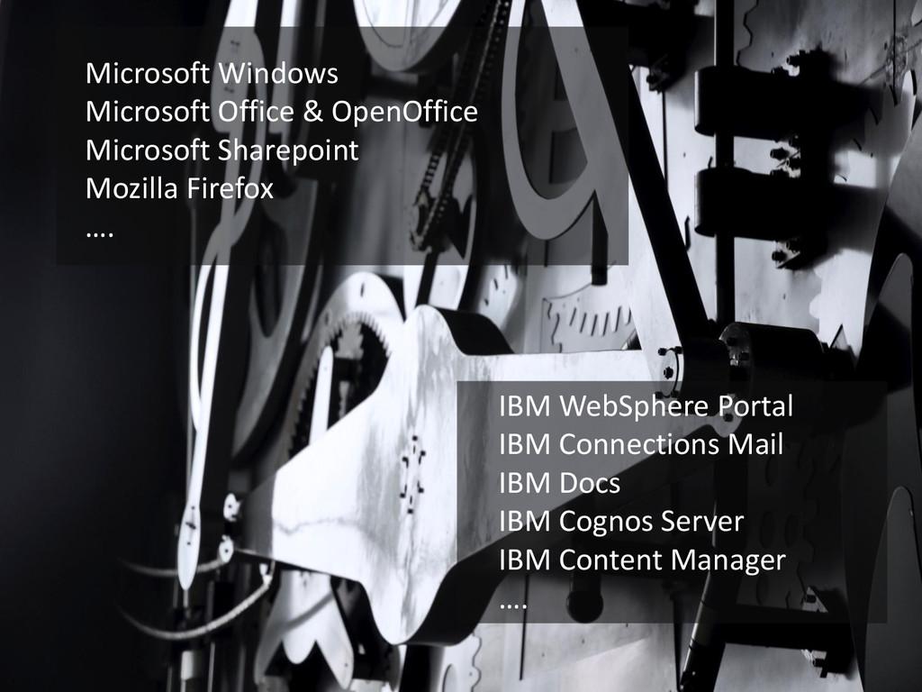 Microsoft Windows Microsoft Office & OpenOffice...