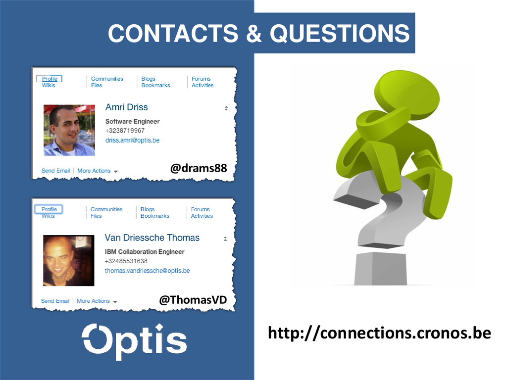 QUESTIONS CONTACTS & QUESTIONS http://connectio...