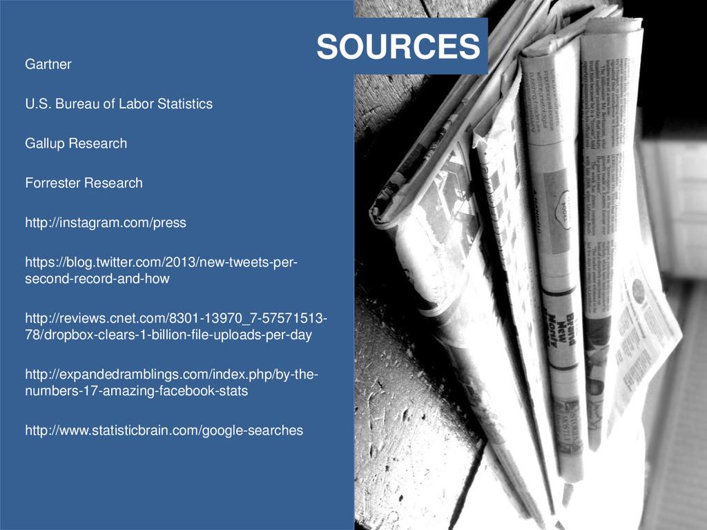 SOURCES Gartner U.S. Bureau of Labor Statistics...