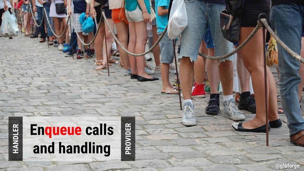 @glaforge Enqueue calls and handling PROVIDER H...