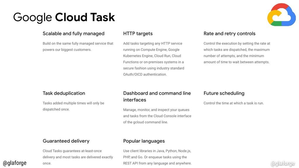@glaforge Google Cloud Task @glaforge
