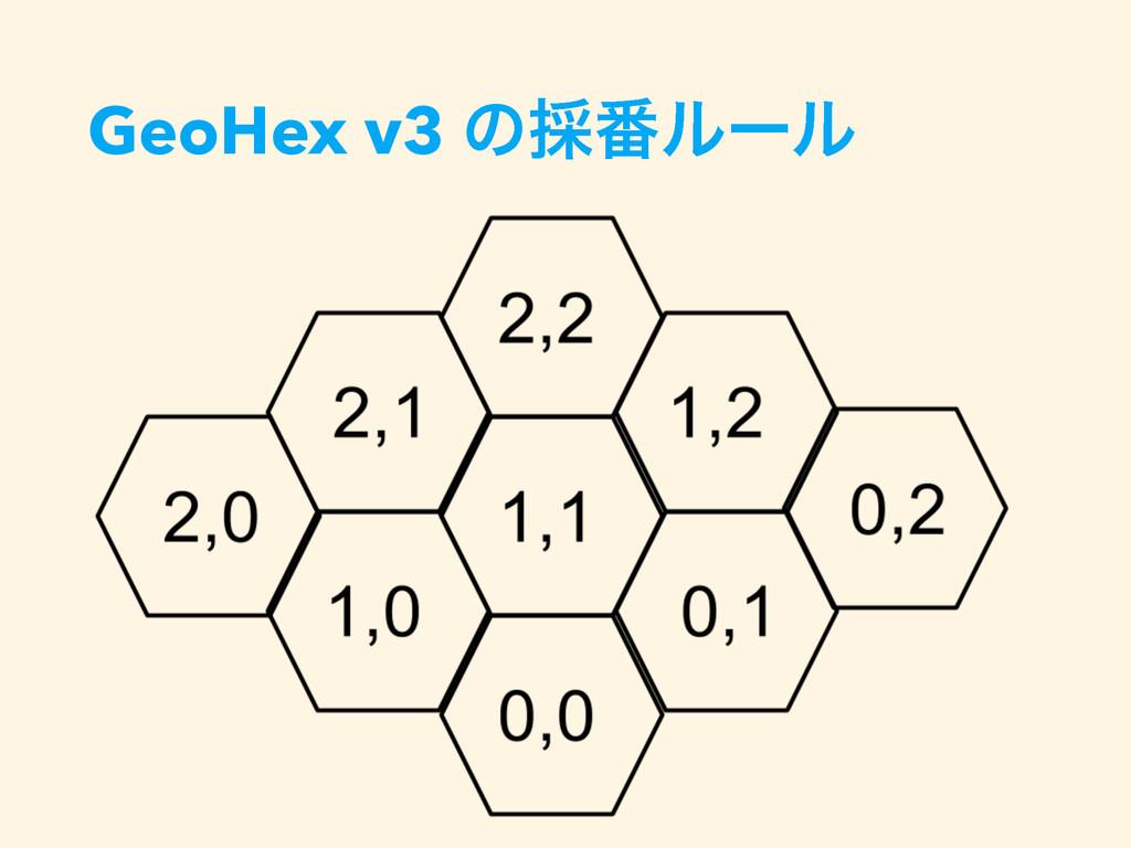 GeoHex v3 ͷ࠾൪ϧʔϧ