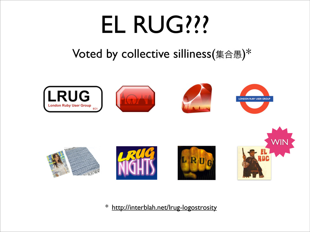 WIN EL RUG??? Voted by collective silliness(ू߹۪...