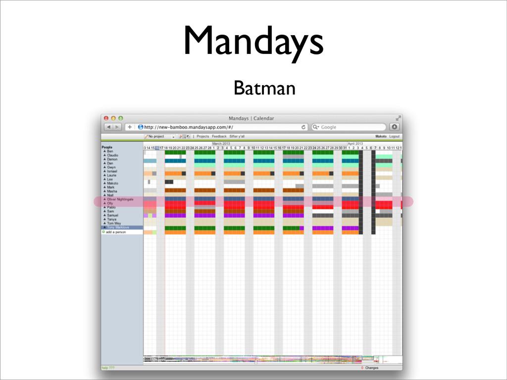 Mandays Batman