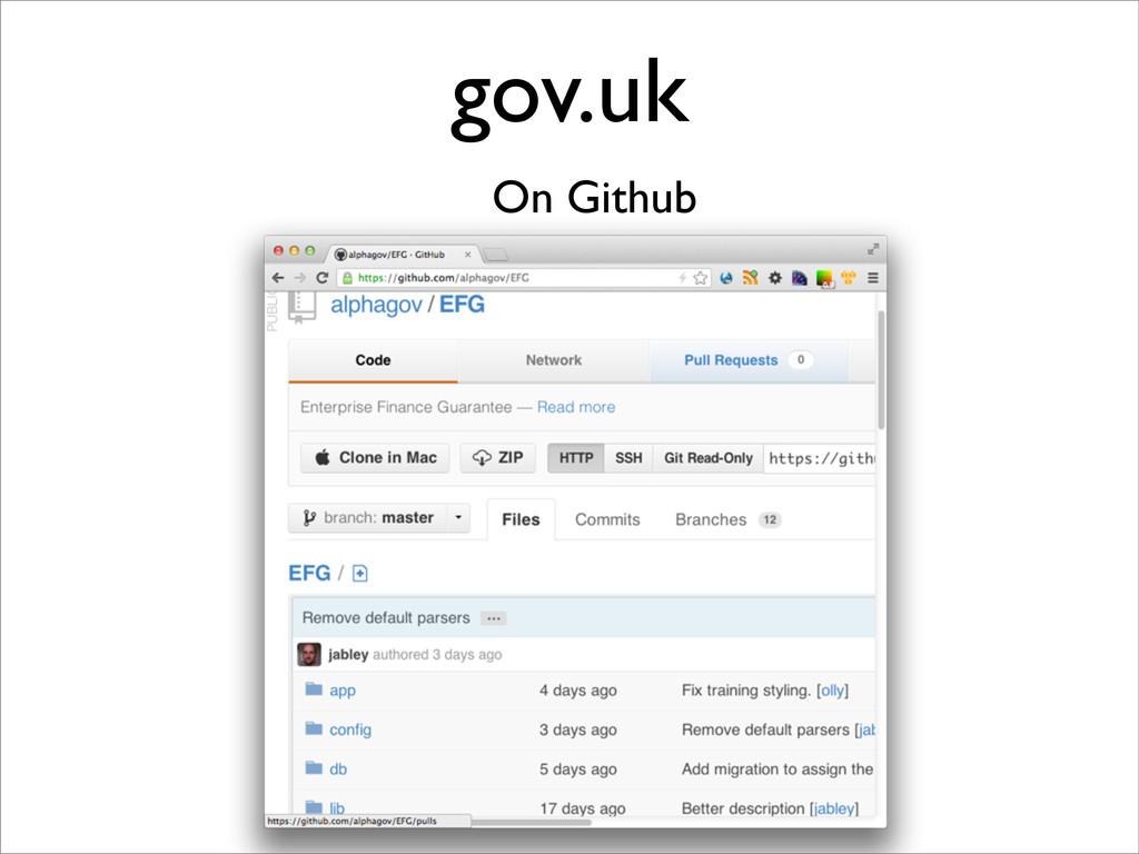 gov.uk On Github