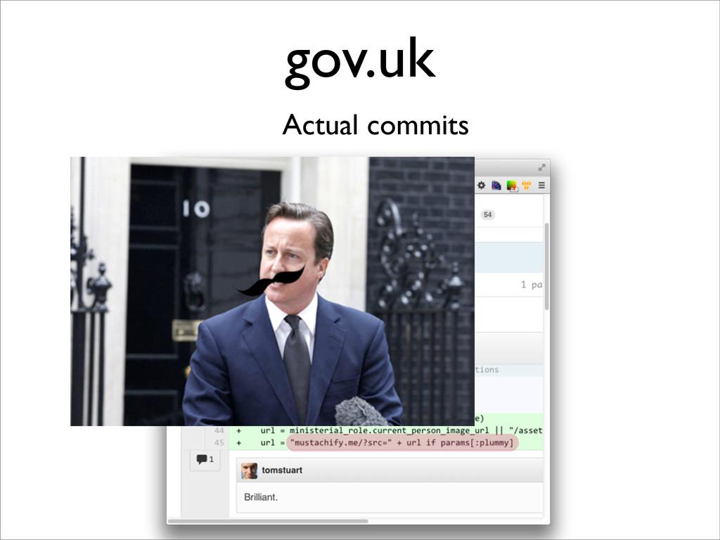 gov.uk Actual commits