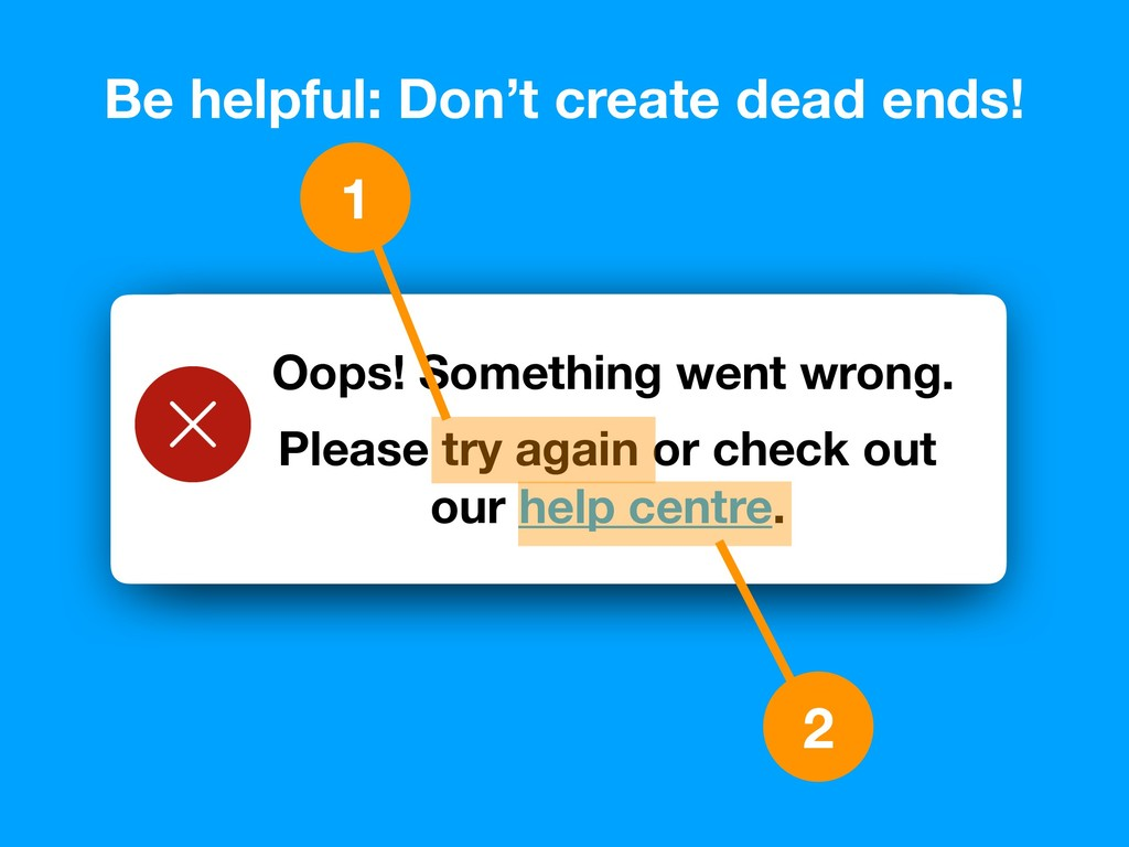 Oops! Something went wrong… Be helpful: Don't c...