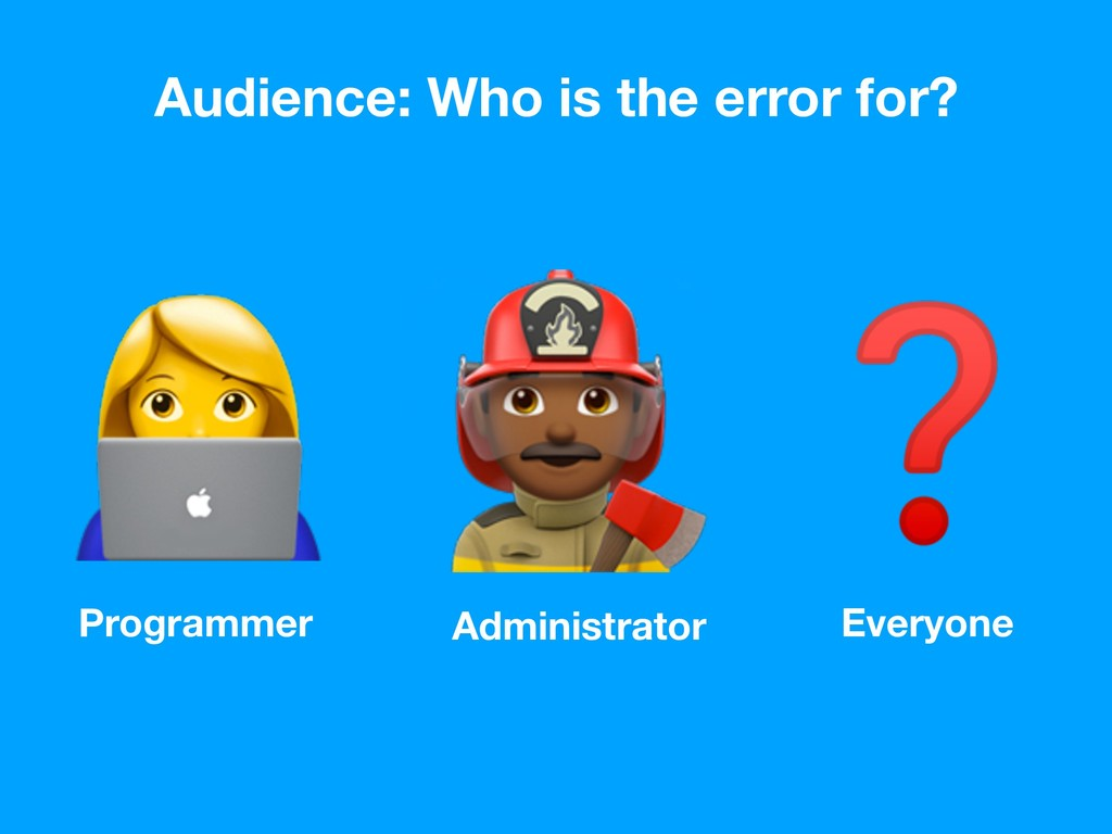 Programmer Administrator Everyone Audience: Who...