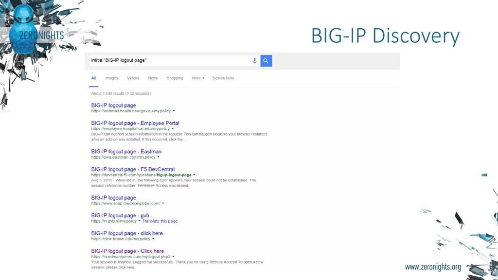 BIG-IP Discovery