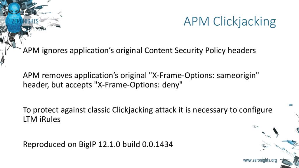 APM ignores application's original Content Secu...