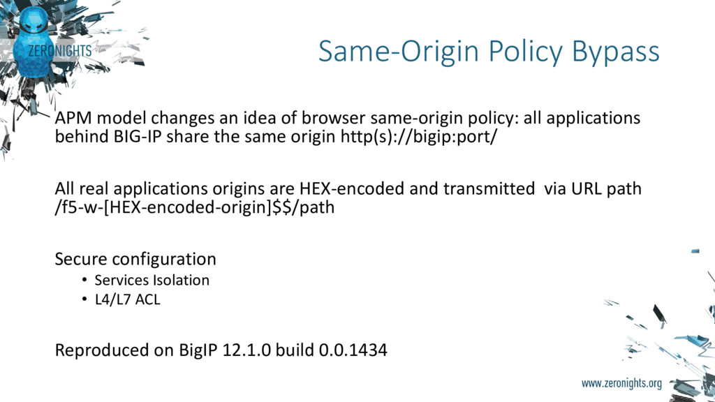 APM model changes an idea of browser same-origi...