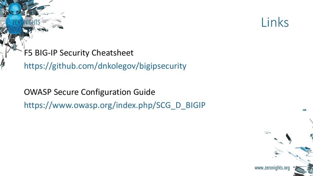 F5 BIG-IP Security Cheatsheet https://github.co...
