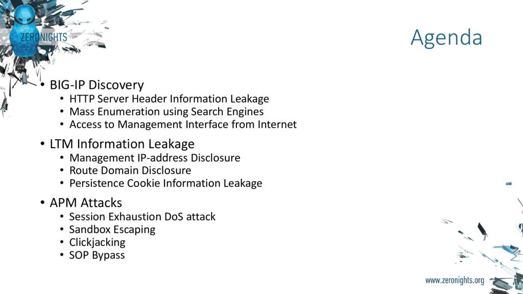 • BIG-IP Discovery • HTTP Server Header Informa...