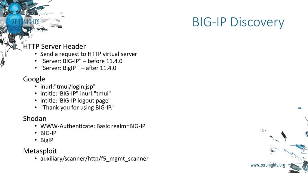 HTTP Server Header • Send a request to HTTP vir...