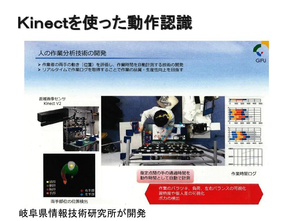 Kinectを使った動作認識 岐阜県情報技術研究所が開発