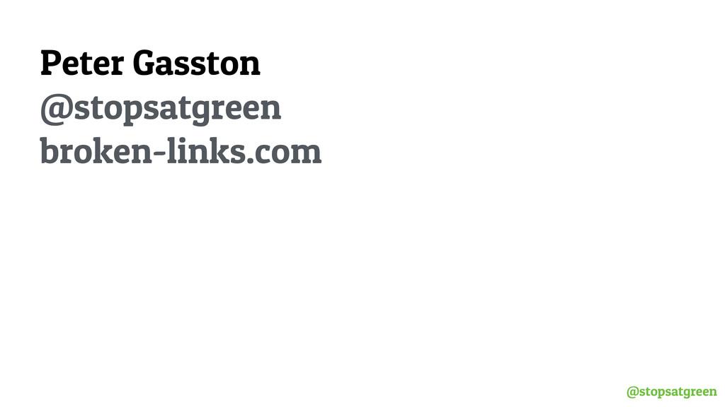 @stopsatgreen Peter Gasston @stopsatgreen bro...