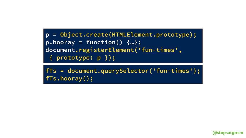 @stopsatgreen fTs = document.querySelector('fun...