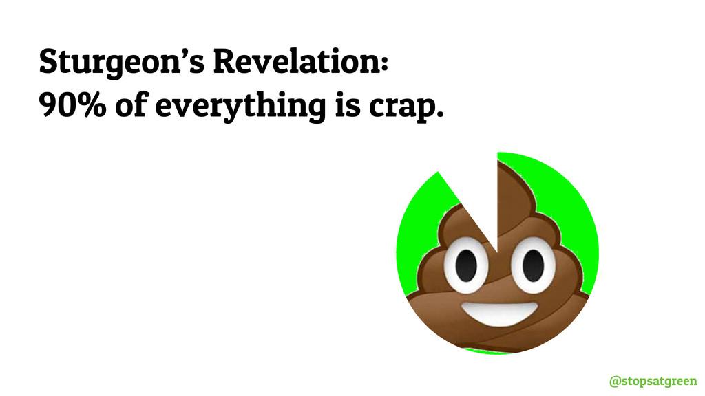 @stopsatgreen Sturgeon's Revelation: 90% of eve...