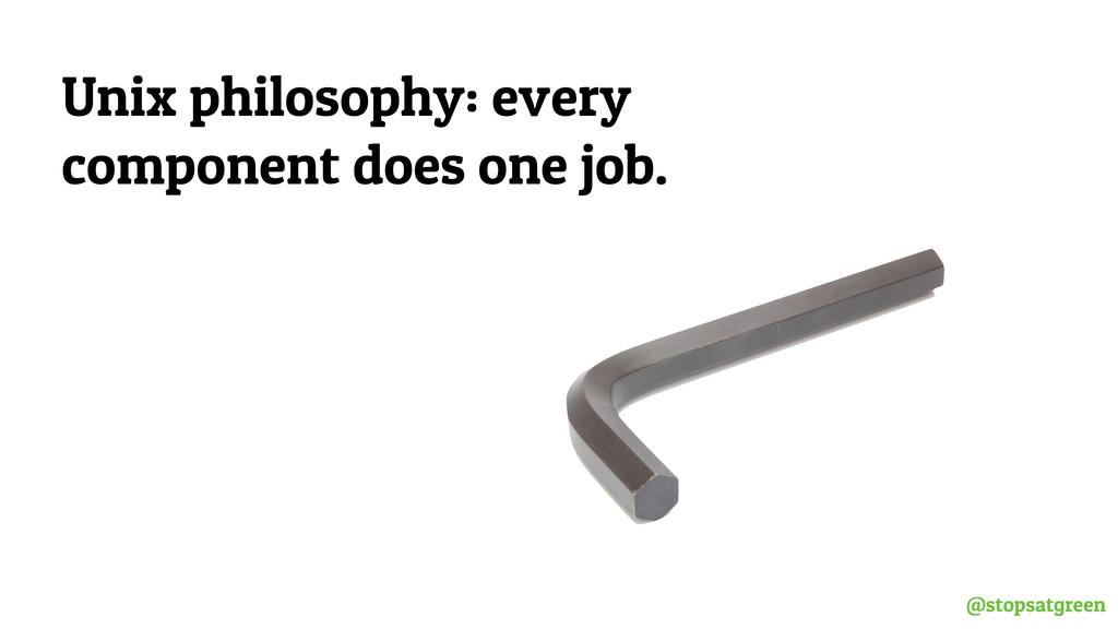 @stopsatgreen Unix philosophy: every component ...