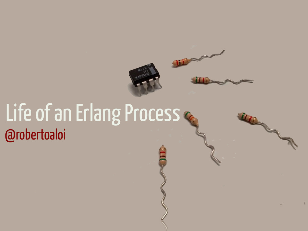 Life of an Erlang Process @robertoaloi