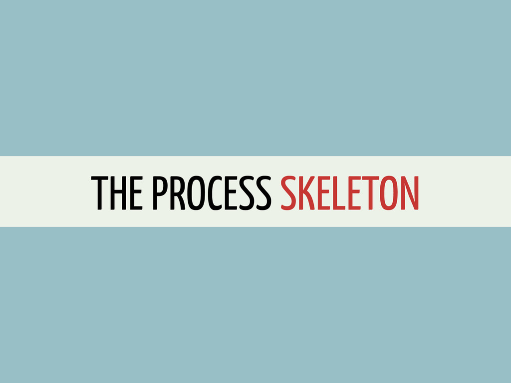 THE PROCESS SKELETON