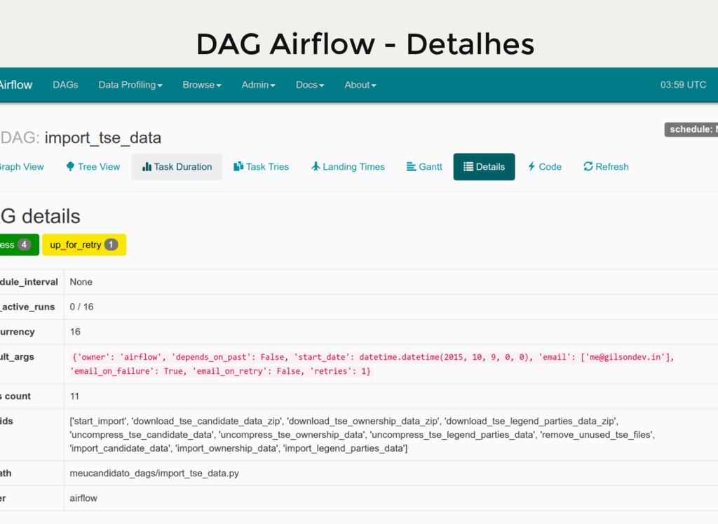 DAG Airflow - Detalhes