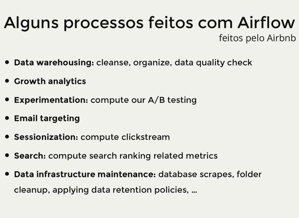 Alguns processos feitos com Airflow Data wareho...