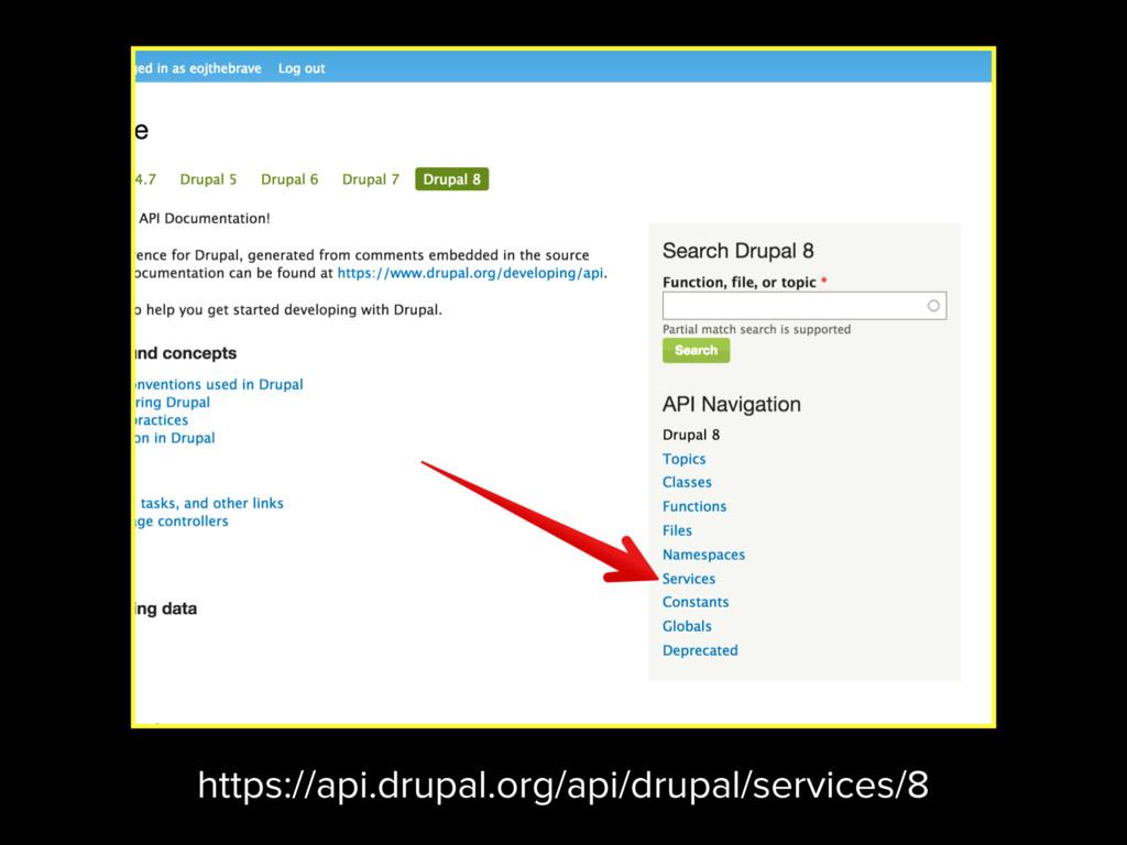 https://api.drupal.org/api/drupal/services/8
