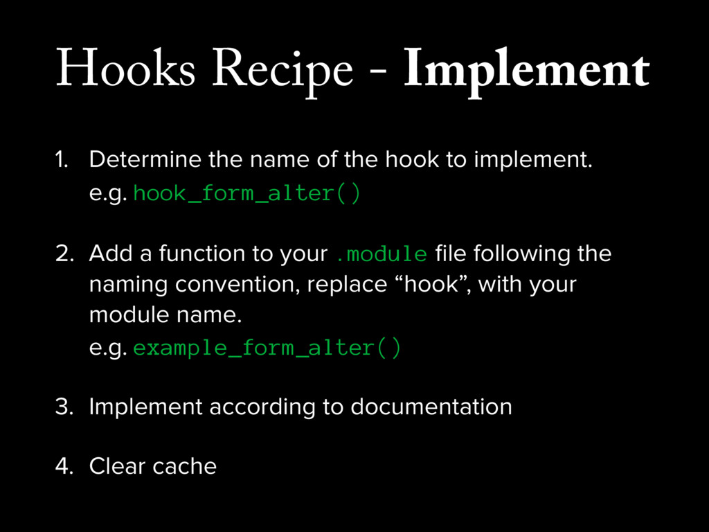 Hooks Recipe - Implement 1. Determine the name ...