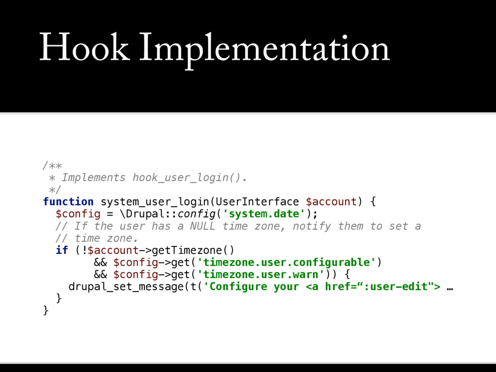 Hook Implementation /**