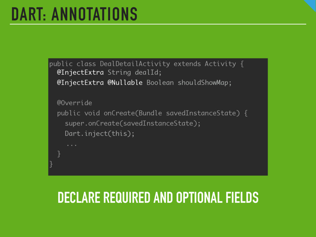 DART: ANNOTATIONS DECLARE REQUIRED AND OPTIONAL...