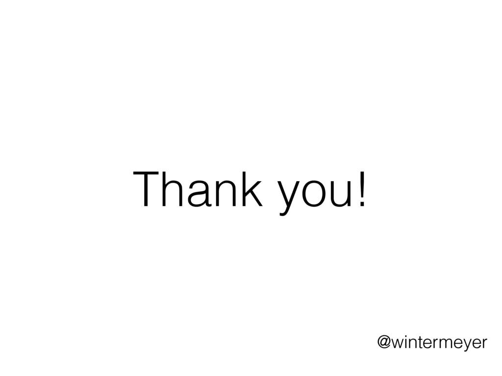 Thank you! @wintermeyer
