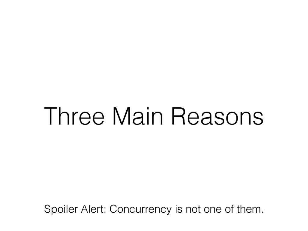 Three Main Reasons Spoiler Alert: Concurrency i...