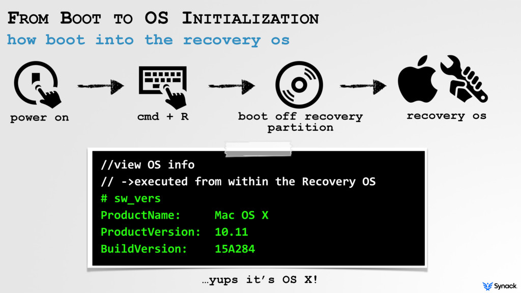how boot into the recovery os FROM BOOT TO OS I...