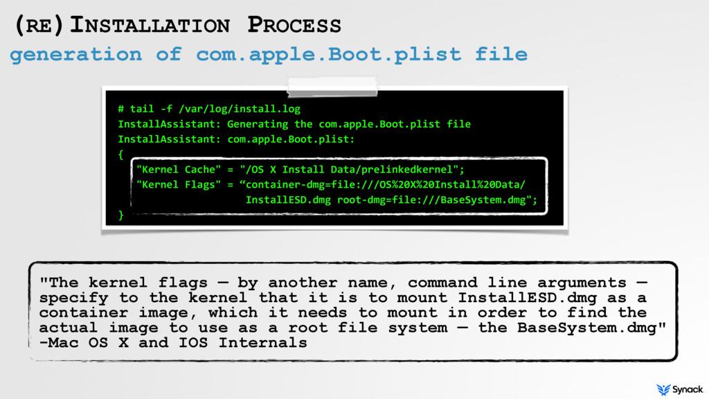 generation of com.apple.Boot.plist file (RE)INS...