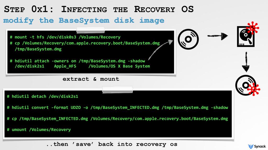 modify the BaseSystem disk image STEP 0X1: INFE...