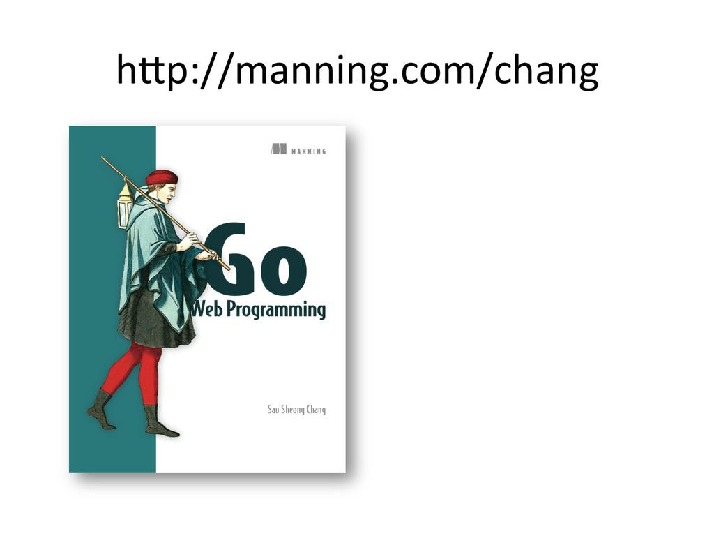 hWp://manning.com/chang