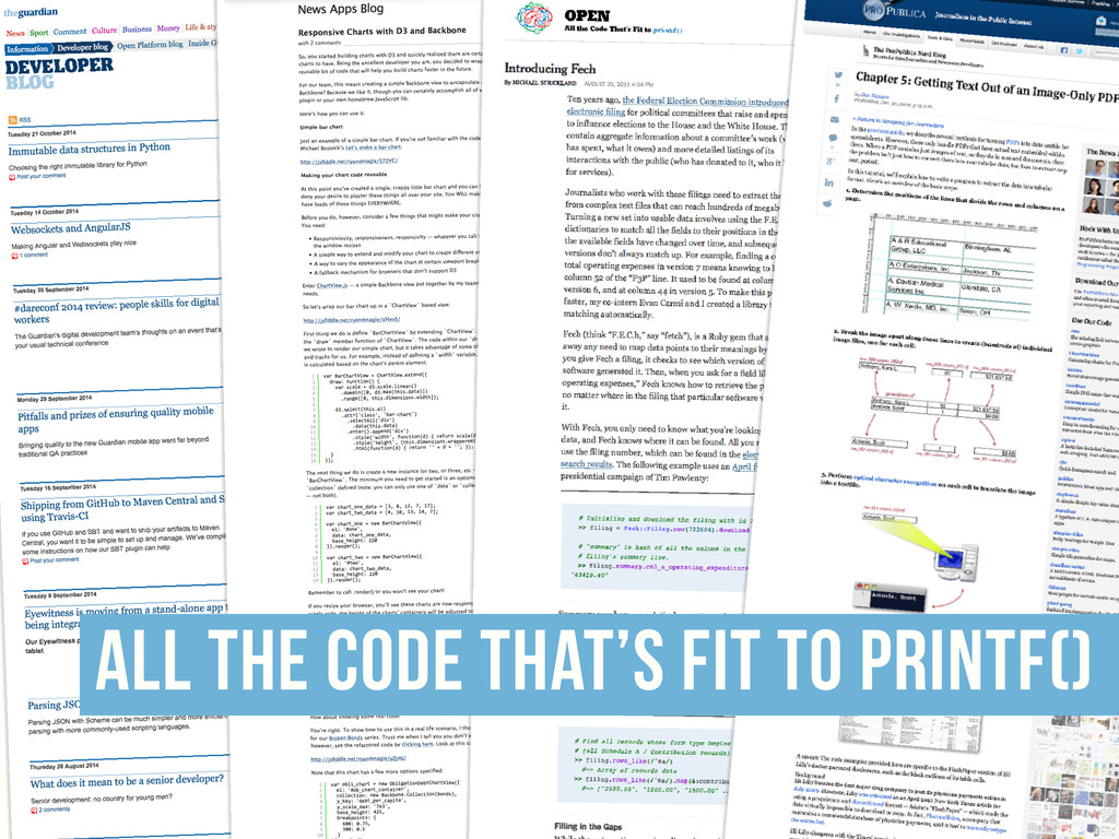 all the code that's fit to printf()