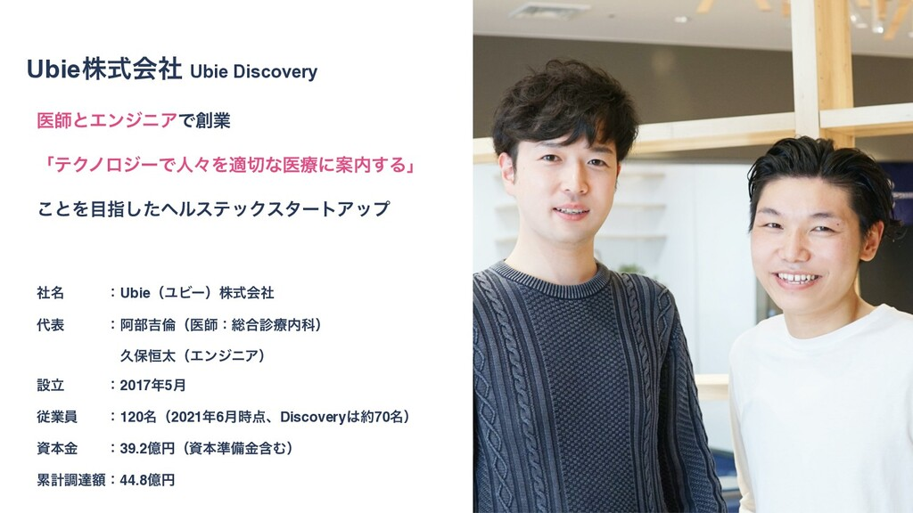 3 Ubieגࣜձࣾ Ubie Discovery 3 3 ҩࢣͱΤϯδχΞͰۀ ʮςΫϊϩ...