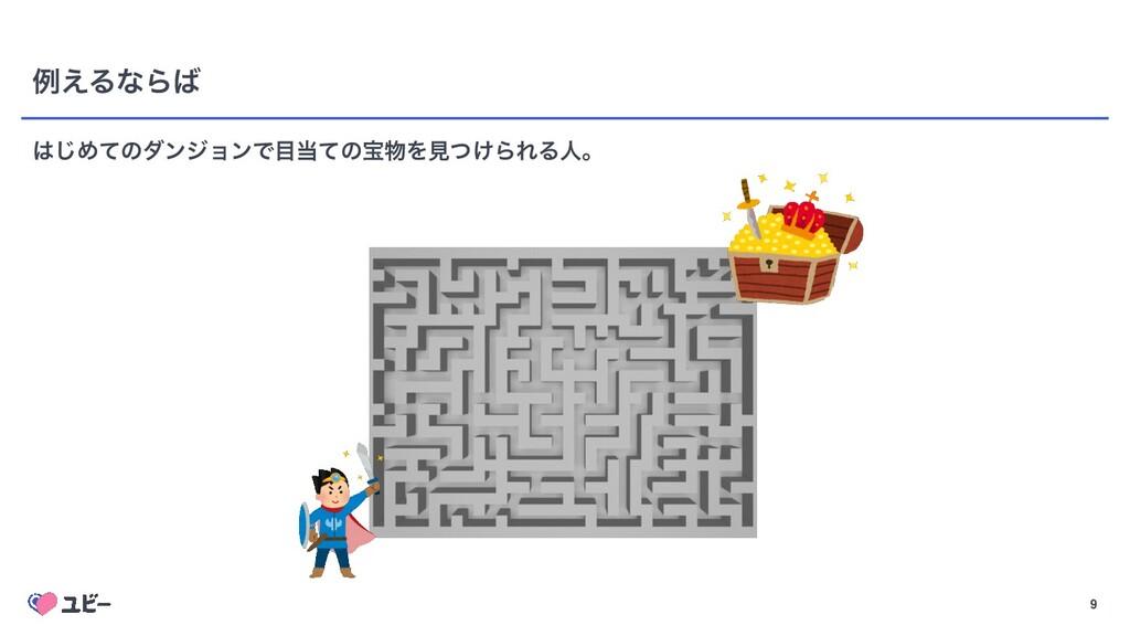 Confidential 9 ྫ͑ΔͳΒ ͡ΊͯͷμϯδϣϯͰͯͷๅΛݟ͚ͭΒΕΔਓɻ