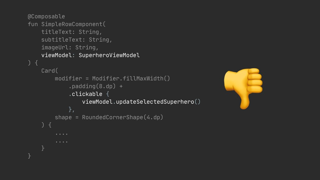 @Composable  fun SimpleRowComponent(  titleTex...