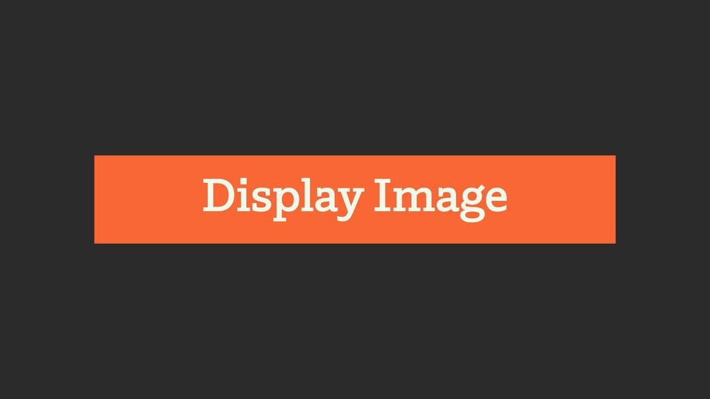 Display Image