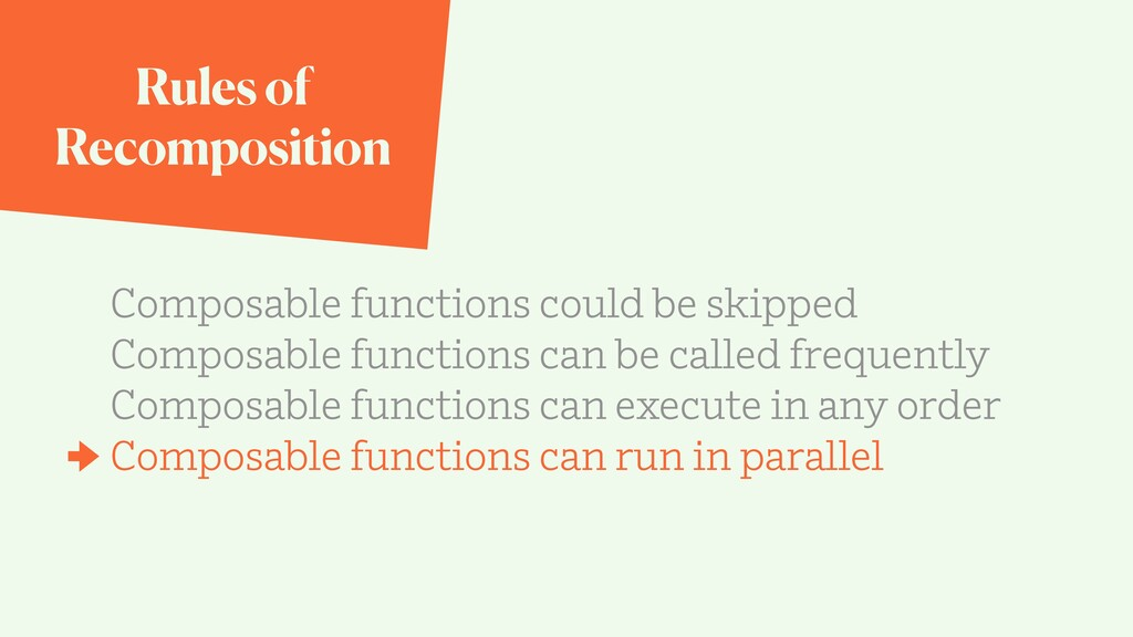Rules of Recomposition Composable functions cou...