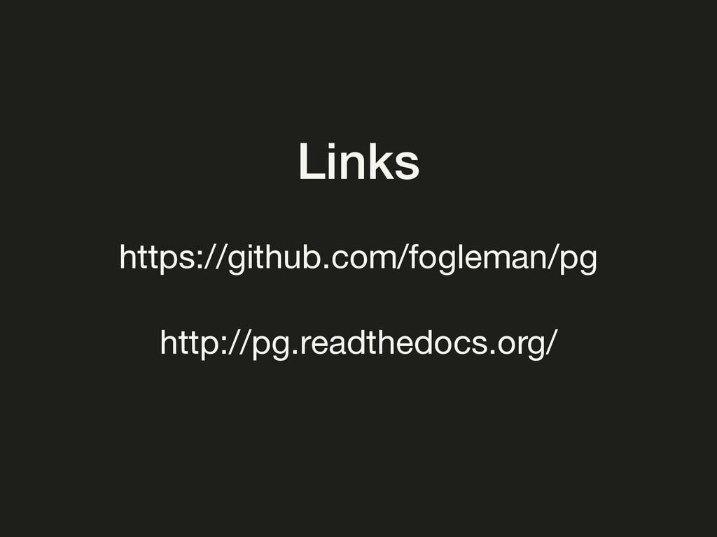 Links https://github.com/fogleman/pg http://pg....